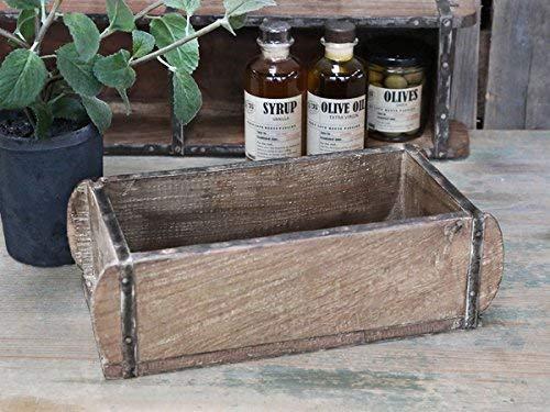 Chic Antique Ziegelform L30cm alte Backsteinform Holz Box Kiste Halter Schale