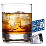 Old Fashioned Whiskey Glass Set, Premium Rocks Glasses for Cocktails and Bourbon, 10 1/4 Oz, Set of 6, Lead-Free Crystal, Bar Drinking Glass Tumbler for Scotch, Cognac, Irish Whisky, Perfect Gift