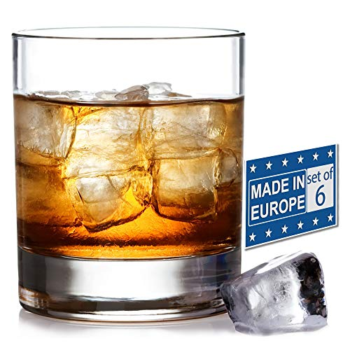 Old Fashioned Whiskey Glass Set, Premium Rocks Glasses for Cocktails and Bourbon, 10 1/4 Oz, Set of...