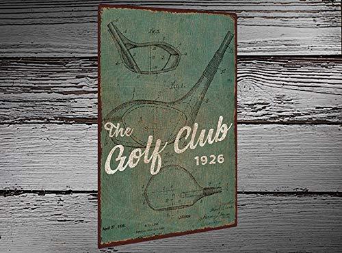 Thomas655 Golfclub Patent Green rustiek metalen bord full colour op metaal gedrukt