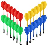 Accmor 24 Pcs Magnetic Darts, Safe Plastic Darts Replacement Dart for Magnet Dartboard, Safe Darts for Boys Girls and Adults Target Game Toys (Red, Blue,Yellow, Green)