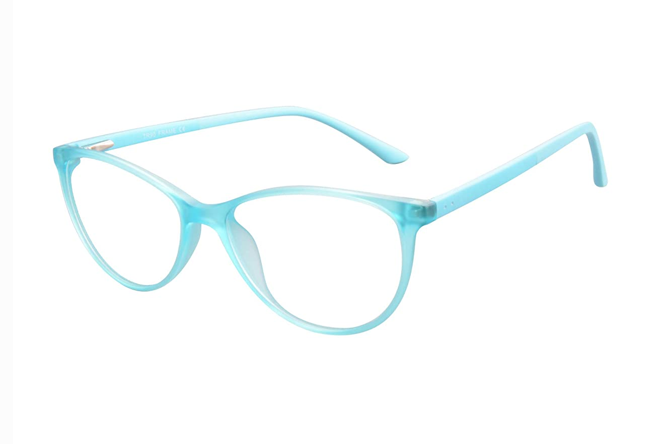 UOOUOO Cateye Blue Light Blocking Clear Lens Glasses for Small Face, Sleep Better No Headach-086