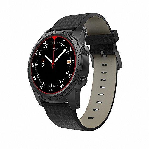 Docooler AllCall W1 Watch-Phone 3G/2G Android 5.1 MTK6580M Quadcore 2GB RAM 16GB Rom Frequenza Cardiaca Smart BT Notifica di Chiamata Allarme Pedometro GPS
