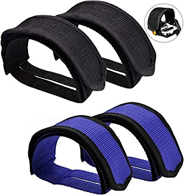 erduoduo 4pcs Bike Pedal Straps for Fixed Gear?Mountain Bike Foot Straps, Bicycle Foot Covers