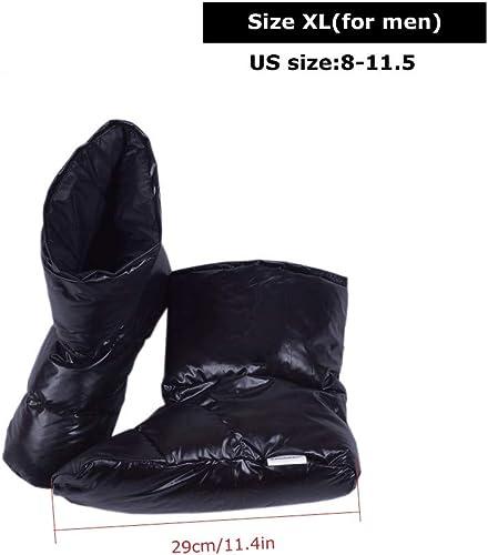 Duck Down Hauszapatos Zapaños Calcetines de Tobillo botas Calzaño Pies para Acampar Cubierta cálida Senderismo al Aire Libre