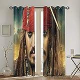 QQSDWQ Piraten Karibik Zwei Spleißvorhänge 132,1 x 182,9