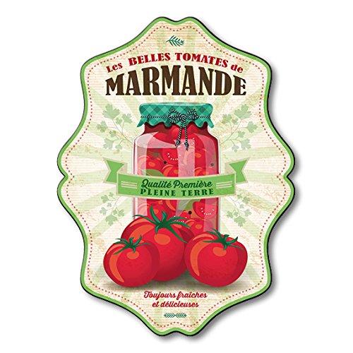 Plaque Alimentaire Décorative Tomates de Marmande Rétro 53 x 40 cm