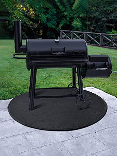 Under Grill Mat Fireproof Mat, 36 Inches Reusable Fire Pit Mat, Waterproof Durable Grill Mats for...