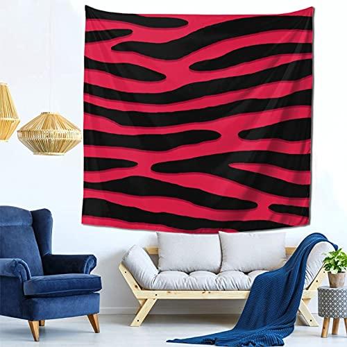 Gbyuhjbujhhjnuj Tapiz para colgar en la pared, diseño de cebra o rayas salvajes con estampado de animales punk, para dormitorio, sala de estar o dormitorio