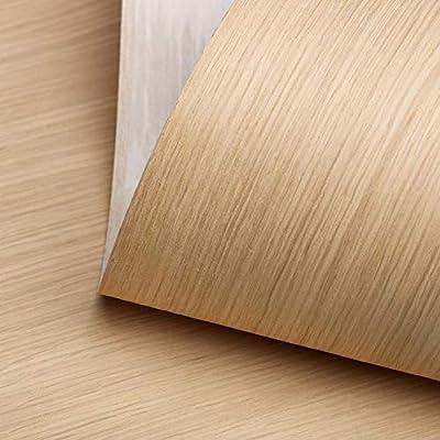 "Edge Supply White Oak Rift Wood Veneer Sheet, 24"" x 48"", 10 mil Paper Back, ""A"" Grade Veneer Face – Easy Apply with Contact Adhesive White Oak Veneer Sheet – Veneer Sheets for Restoration of Furniture"