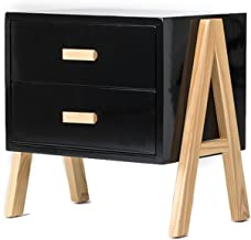 MEI XU Nightstand Bedside Table-Sofa Side Tables Wood Bedroom Storage Cabinet Bedside Drawers Lockers Multi-purpose Storag...