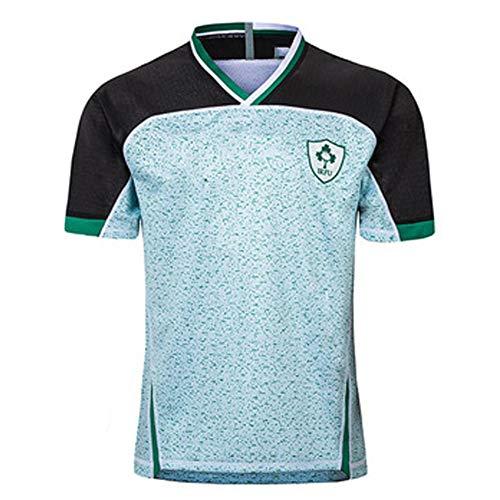 AUUA Rugby Jersey 2019 Japan Weltmeisterschaft Irland Heim- und Auswärtstraining Fußballtrikot Sweatshirt Kurzarm Geeignet für Studenten Kinder Erwachsene Gutes Spiel-Away-XL