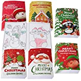36PCS Christmas Coloring Books Kids Party Favors - Xmas Stockings Goodie Bags Stuffer Filler Fun Holiday Party Supplies