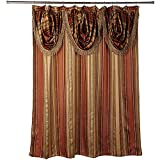 fancy royal and luxurious looking luxury striped shower curtain