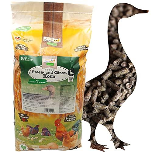 DuckGold Enten- & Gänsekorn 10kg - Entenfutter Gänsefutter Wassergeflügelkorn Pellets
