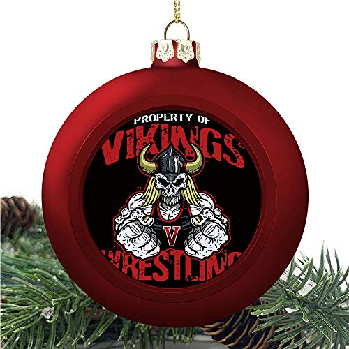 aosup Vikings Wrestling Design/Christmas Ball Ornaments 2020 Christmas Pendant Personalized Creative Christmas Decorative Hanging Ornaments Christmas Tree Ornament №SW110800