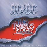 AC/DC Razor's Navaja de Edge STICKER, ETIQUETA Officially Oficialmente Licensed Autorizado Products Classic Rock Artwork,ilustraciones 3.8' x 4' - Long Lasting Sticker Etiqueta DECAL CALCOMANIA