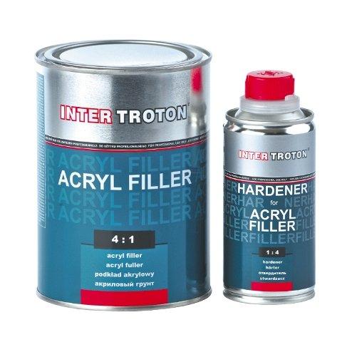 Inter Troton 2K Acryl Füller Grundierung Primer HS 4:1 0,8L Weiß + Härter 0,2L