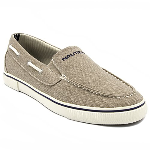Nautica Men's Doubloon Boat Shoe Slip-On Loafer-Washed Burlap-8