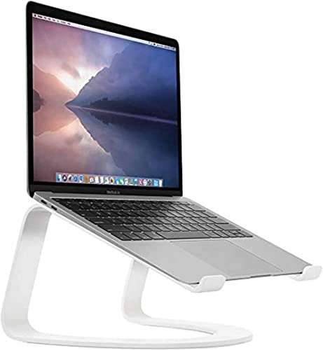 Twelve South Curve for MacBooks and Laptops | Ergonomic Desktop Cooling Stand for Home or Office, White (Special Edit...
