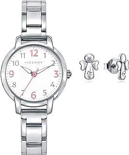 Pack Watch + Earrings Sweet VICEROY 461138-05 Girl Two-Tone Steel