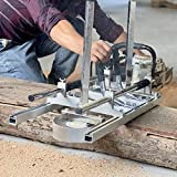 XtremepowerUS 48' Portable Chainsaw Mill, Aluminum Steel Planking...