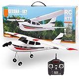WZRY Avion RC, Avion de Drone à voilure Fixe 3ch télécommandé 2.4Ghz Avion Rc Jouets Avion, Avion RC EPP Durable avec gyro à 3 Axes, pour Enfants garçons débutant