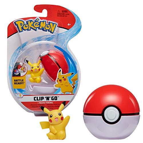 Bandai-Pokémon-Ball und Seine Figur, 5 cm, Pikachu, WT98025