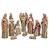 Belén de Navidad con Reyes Magos con Mosaico de Espejos Dorado Moderno para decoración navideña Christmas - LOLAhome