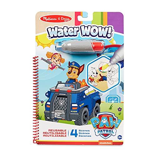 Melissa & Doug | PAW Patrol Water Wow! - Bloque de Actividades de Viaje Revela-Color de Chase | Patrulla Canina