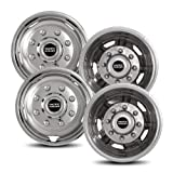 Pacific Dualies 30-1708 Polished Stainless Steel Wheel Simulator Kit with 8 Lug and 5 Vent Hole for Chevy 2011-2019 GMC 3500 Truck