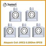 Pack de 5 résistances Penguin AtoPack JVIC2 MTL 0.25ohms Joyetech