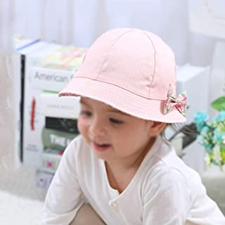 JJSPP Fashion Baby Girl Hats Summer Two Sided Cap Hat Infant Kids Children Floral Bowknot Sun Hat