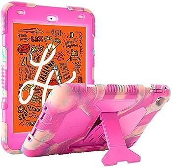 iPad Mini 5 Case 2019 iPad Mini ACEGUARDER Full Body Protective Premium Soft Silicone Cover with Adjustable Kickstand  Candy