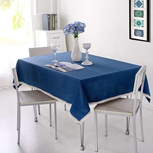 Sinzong Tafelkleed, rond, rechthoekig, vast tafelkleed, katoen, linnen, tafelkleed, wooncultuur, tafelkleed, bescherming eettafel, afdekking voor keuken, theetafel