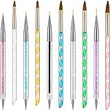 Kit de 10 Piezas de Plumas de Arte de Uñas incluye Cepillos de Línea y Plumas de Pincel de Uñas...