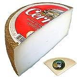 Queso Semicurado - Medio Queso Cerrato - Peso Aproximado 1,4 kg - Incluye Cuña Degustación Queso de Oveja Curado de REGALO - Elaborado con leche Pasteurizada de Oveja y Vaca