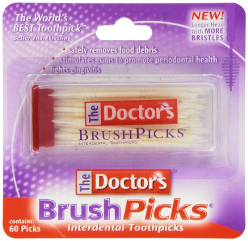 The Doctor's BrushPicks Interdental Toothpicks | Helps Fight Gingivitis | 60 Picks