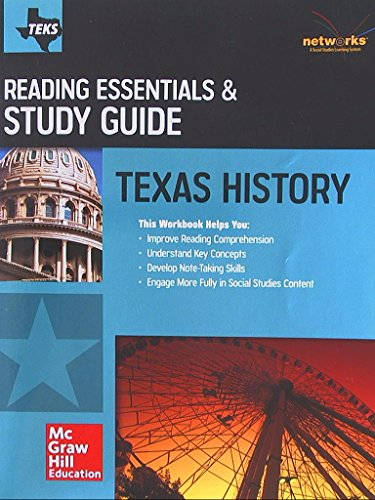 Texas History, Reading Essentials & Study Guide, Student Workbook, 9780021360567, 0021360561