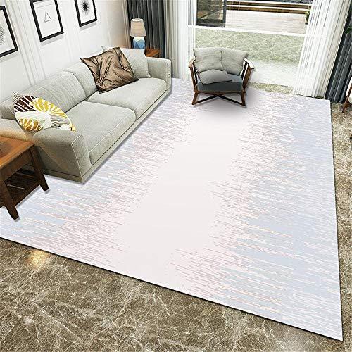 WBDYMX Modern antislip zacht tapijt Soft touch blauw wit eenvoudig en gemakkelijk te beheren open haard tapijt