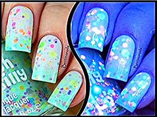 Minty Madness-Color Changing UV Blacklight Thermal Nail Polish: Custom-Blended Indie Glitter Nail Polish / Lacquer
