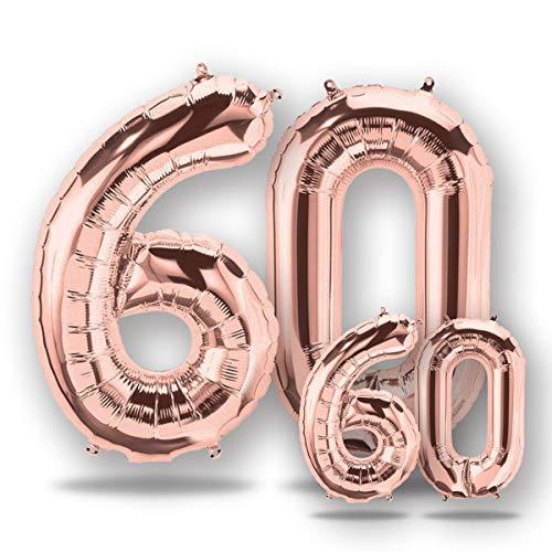 FUNXGO® Folienballon Zahl in Rose Gold 2 Stück -40