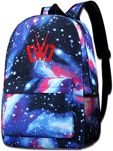 sdfasdfafd CWC Chad Wild Clay Starry Sky Ninja Fashion Casual Large Capacity Travel Bags Laptop Shoulders Backpack for Girls Boys