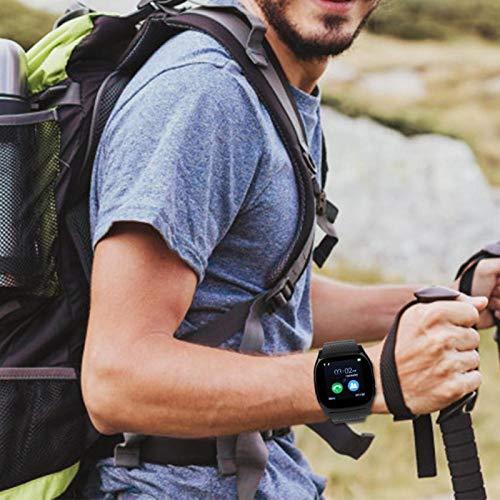 Qqmora Smart Band Fácil de Llevar Sport Smartwatch Diseño de Apariencia Fresca, Correr, Fitness(Black)