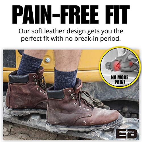 """Ever Boots """"Tank"""" Men's Soft Toe Oil Full Grain Leather Insulated Work Boots Construction Rubber Sole (11 D(M), Darkbrown)"""