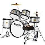 First Drum Set Discounts - Mendini 5 Piece Silver Kit