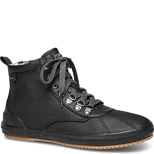 Keds Women's Keds Scout Boot Matte Twill Ankle Boot, Black, 9 M US