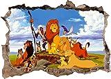 Wandtattoo König der Löwen Simba Dschungel 3d zerschlagen