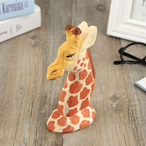 WNN-URG Wooden Spectacle Holder Eyewear Rack Animal Sculpture Eyeglass Display Stand(Giraffe) URG
