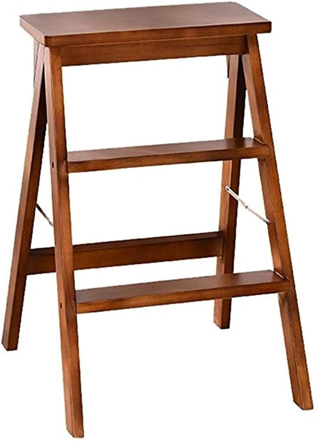 YJLGRYF Step Stool Wooden Utility Step Multi-Functional Small Ladder Chairs Step Stool Ideal for A Home (color   B)